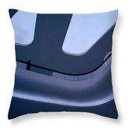 Futuristic Blue Throw Pillow