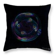Futuristic Bubble Throw Pillow