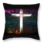 Futuristic Cross Pattern Throw Pillow