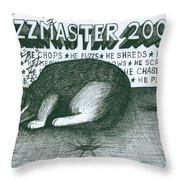 Fuzzmaster 2000 Throw Pillow