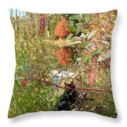 Fuzzy And The Reflected Tree Throw Pillow