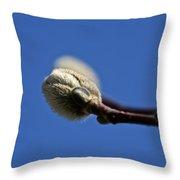 Fuzzy Bud Throw Pillow