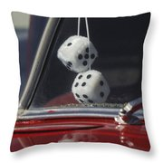 Fuzzy Dice 2 Throw Pillow