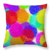Fuzzy Polka Dots Throw Pillow by Andee Design