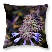 Fuzzy Purple 1 Throw Pillow