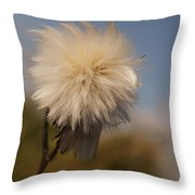 Fuzzy Weed Throw Pillow