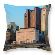 Fx1l922 Columbus Ohio Skyline Photo Throw Pillow