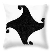 Fylfot-triskelion Throw Pillow