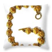 G . Golden Throw Pillow by Renee Trenholm