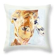 G A Giraffe Throw Pillow