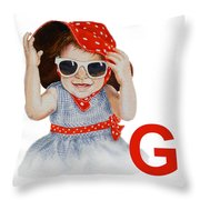 G Art Alphabet For Kids Room Throw Pillow