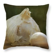 G Is For Garlic Throw Pillow