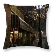 G Street Antique Store In The Snow Throw Pillow