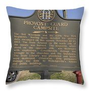 Ga-005-16 Provost Guard Campsite Throw Pillow