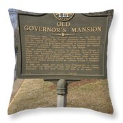 Ga-005-1b Old Governors Mansion Throw Pillow