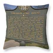 Ga-005-25 Tomlinson Fort House Throw Pillow