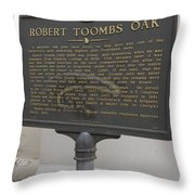 Ga-029-15 Robert Toombs Oak Throw Pillow