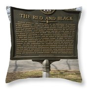 Ga-029-18 The Red And Black Throw Pillow