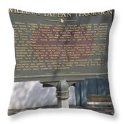Ga-104-11 William Tappan Thompson Throw Pillow
