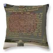 Ga-108-2 Birthplace Of Bishop A. G. Haygood And Miss Laura A. Haygood Throw Pillow