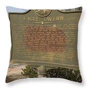 Ga-108-5 Eagle Tavern Throw Pillow
