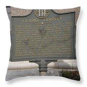 Ga-29-4 Clarke County Throw Pillow