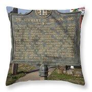 Ga-59-2 Dr Stewart D Brown Sr Throw Pillow
