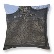 Ga-73-4 Hart County Throw Pillow