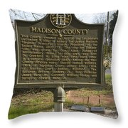 Ga-97-1 Madison County Throw Pillow