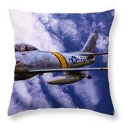 Gabby's F-86e Throw Pillow
