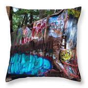 Gaffiti In The Candian Forest Throw Pillow