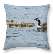 Gaggle Of Geese Throw Pillow
