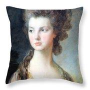 Gainsborough's The Hon. Mrs. Thomas Graham Up Close Throw Pillow