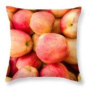 Gala Apples On Display Throw Pillow