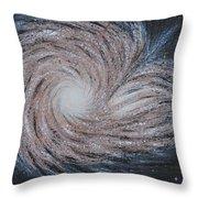 Galactic Amazing Dance Throw Pillow by Georgeta  Blanaru