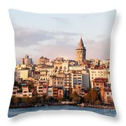 Galata Skyline 01 Throw Pillow by Rick Piper Photography