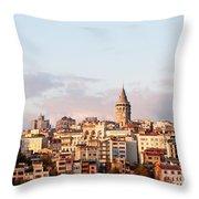 Galata Skyline 02 Throw Pillow