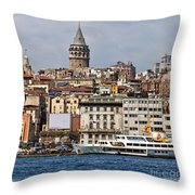 Galata Tower 03 Throw Pillow