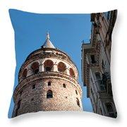 Galata Tower 03 Throw Pillow