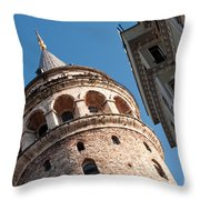 Galata Tower 04 Throw Pillow