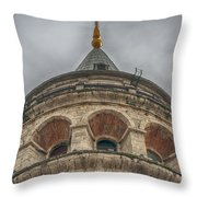 Galata Tower Istanbul Throw Pillow by Antony McAulay