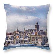 Galata Tower Istanbul Throw Pillow