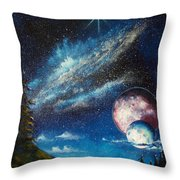 Galatic Horizon Throw Pillow