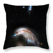 Galaxies Collide  Throw Pillow