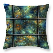 Galaxies II Throw Pillow by Betsy Knapp