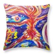 Galaxy Dancer Throw Pillow