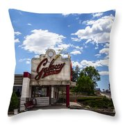 Galaxy Diner Throw Pillow