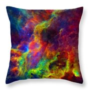 Galaxy Lights Throw Pillow