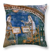 Galen And Hippocrates Throw Pillow