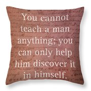 Galileo Quote Science Astronomy Math Physics Inspirational Words On Canvas Throw Pillow